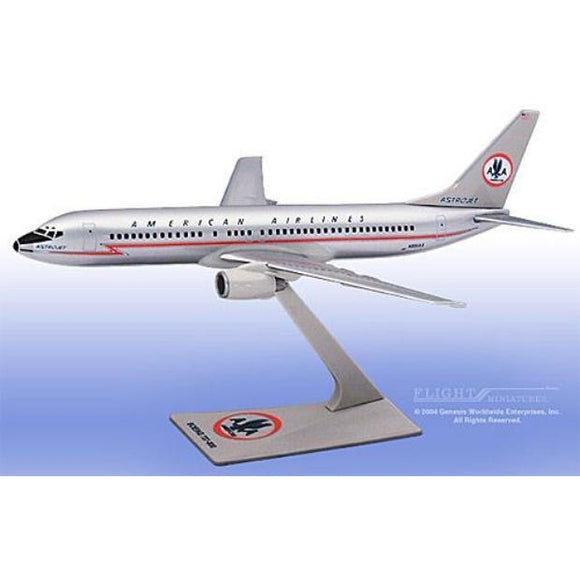 Flight Miniatures 1:200 scale American 737-800 Astrojet plastic snap-fit model, sold exclusively by Airliner Replicas. The perfect gift for any aviation fan.