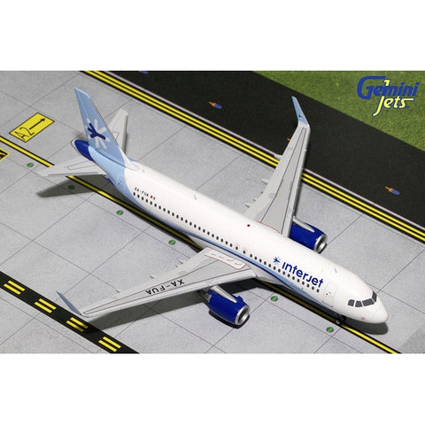 Gemini200 1:200 Scale Diecast Airliner Replica. interjet Airbus A320-200S Diecast metal aircraft model sold exclusively by Airliner Replicas. The perfect gift for any aviation fan.