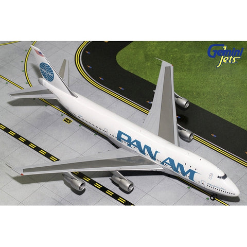 Gemini200 1:200 Scale Diecast Airliner Replica. Pan Am Boeing 747-100 Die cast metal model aircraft sold exclusively by Airliner Replicas. The perfect gift for any aviation fan.