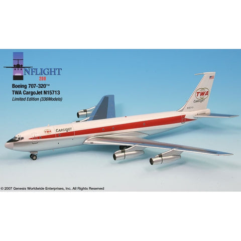 InFlight 200 1:200 Scale Metal Die-Cast - Boeing 707-320 die cast model aircraft, the perfect gift for any aviation fan.