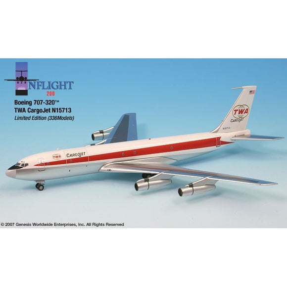 InFlight200 - TWA Twin Globe Cargo Jet 707-320 1:200 - Airliner Replicas