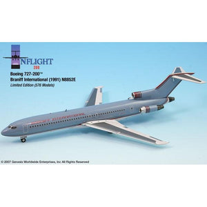 InFlight200 - Braniff Ultra Grey/Red Boeing 727-200 1:200 - Airliner Replicas