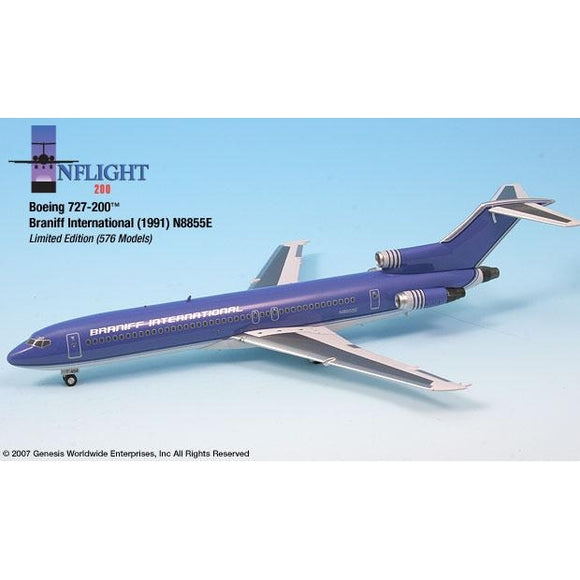 InFlight200 - Braniff Ultra Purple/Silver Boeing 727-200 1:200 - Airliner Replicas