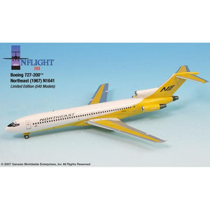 InFlight200 - Northeast Yellowbird Boeing 727-200 1:200 - Airliner Replicas