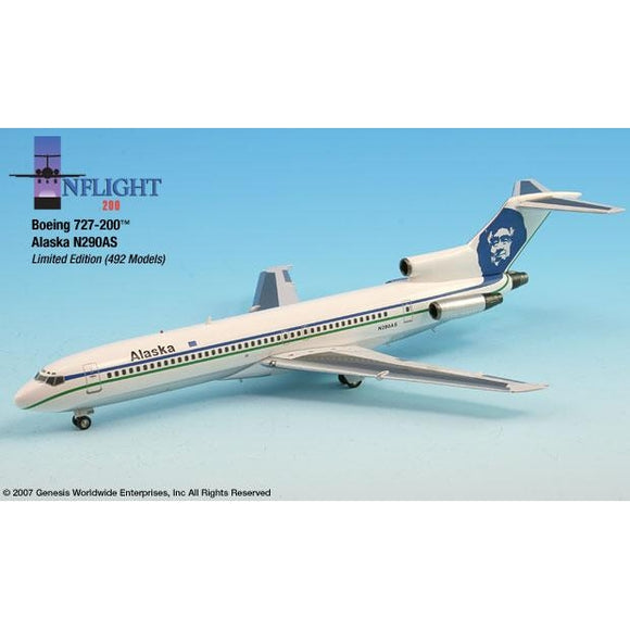 InFlight200 - Alaska Airlines Boeing 727-200 1:200 - Airliner Replicas