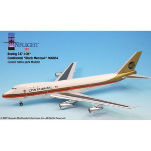 InFlight 200 1:200 Scale Metal Die-Cast - Continental Boeing 747-100, the perfect gift for any aviation fan.