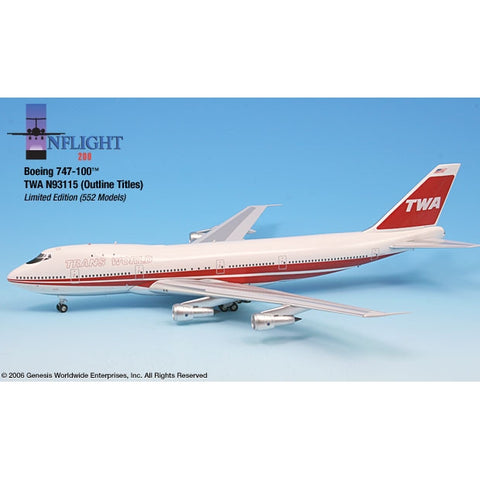 InFlight 200 1:200 Scale Metal Die-Cast - Boeing 747-100.  This die cast limited edition model aircraft is the perfect gift for any aviation fan.