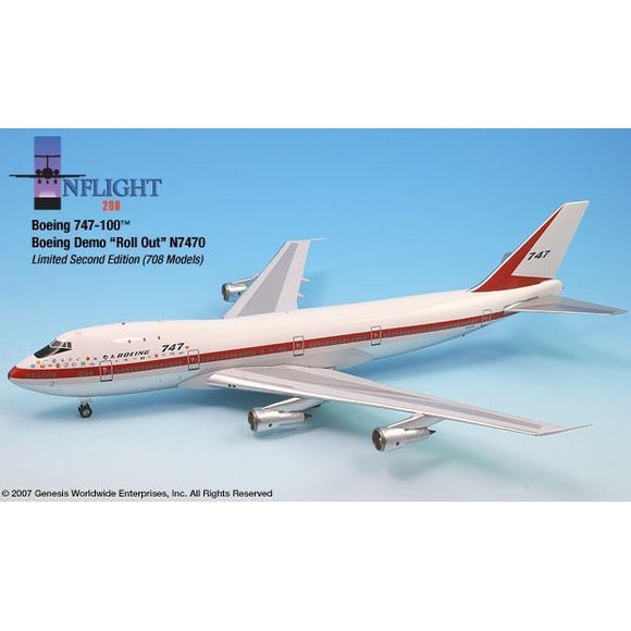InFlight200 - Boeing Demo 747-100 1:200 - Airliner Replicas