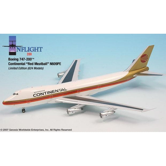 InFlight200 - Continental Red Meatball 747-100 1:200 - Airliner Replicas