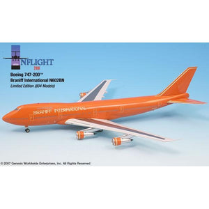 InFlight200 - Braniff Ultra Orange 747-200 1:200 - Airliner Replicas