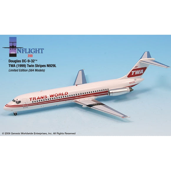 InFlight200 TWA DC-9-32 N929L 1:200 - Airliner Replicas