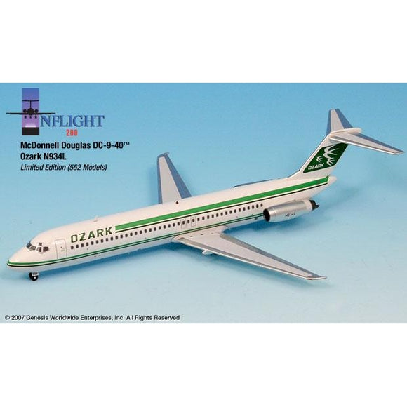 InFlight200 Ozark Airlines DC-9-40 1:200 - Airliner Replicas