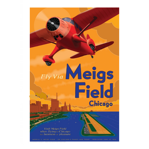 Meigs Field Poster 14 X 20 - Airliner Replicas