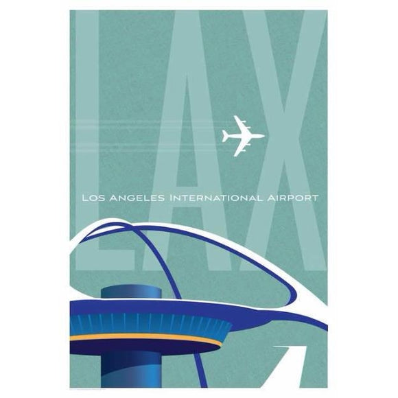 LAX Los Angeles Airport Poster 14 X 20 - Airliner Replicas