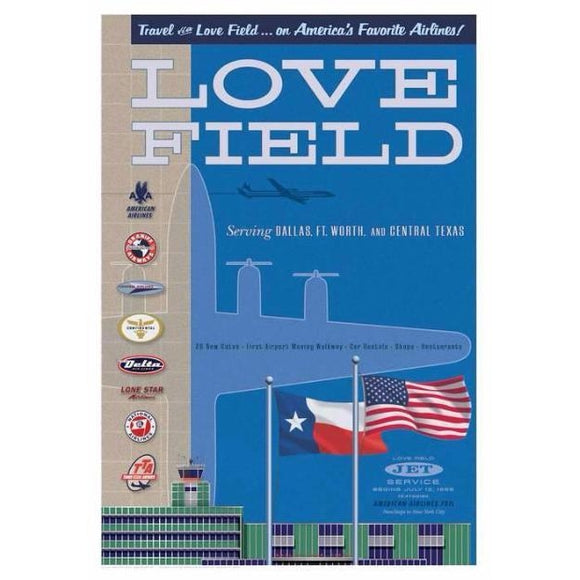 Dallas Love Field Poster 14 X 20 - Airliner Replicas