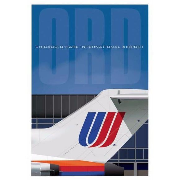 Chicago-O'Hare International Airport Poster 14 X 20 - Airliner Replicas