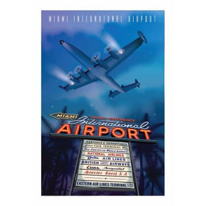 Miami International Airport Poster 14 X 20 - Airliner Replicas