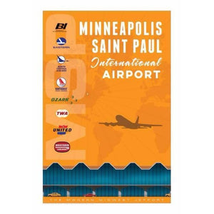 Minneapolis/Saint Paul International Airport Poster 14 X 20 - Airliner Replicas