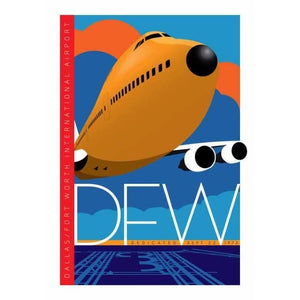 DFW Dallas/Fort Worth Airport Poster 14 X 20 - Airliner Replicas