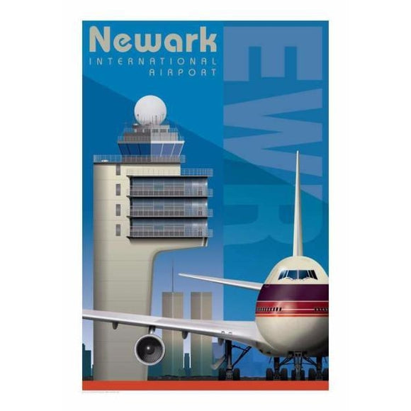 EWR Newark International Airport Poster 14 X 20 - Airliner Replicas