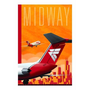 Midway Airlines Tribute Poster 14 X 20 - Airliner Replicas