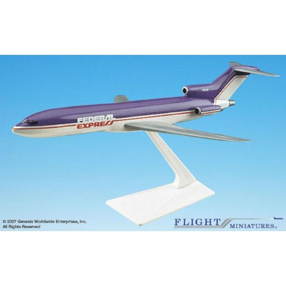 Flight Miniatures Federal Express 727-200 1:200 Plastic Snap-Fit Desktop Model - Airliner Replicas
