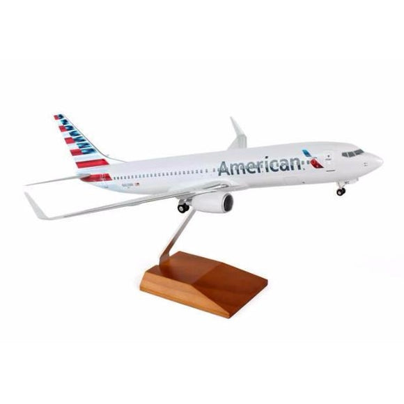 Skymarks American Boeing 737-800 1/100 W/Wood Stand & Detailed Gear - Airliner Replicas