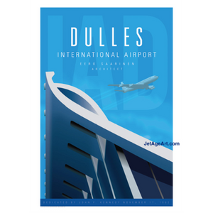 Dulles International Airport Poster 14 X 20 - Airliner Replicas