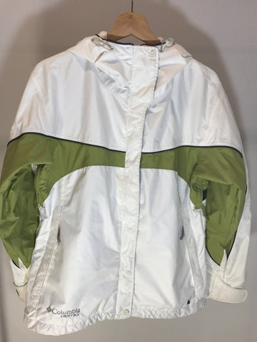 Columbia Jacket White/Green Womens Medium - 528co