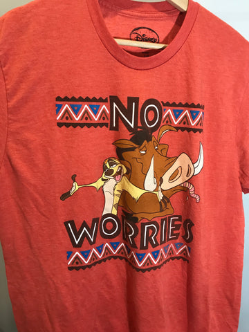Disney Lion King No worries T-shirt Size Large - 528co