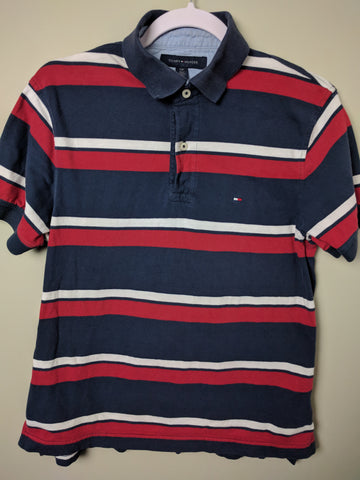 Tommy Hilfiger Striped Polo Size Small - 528co