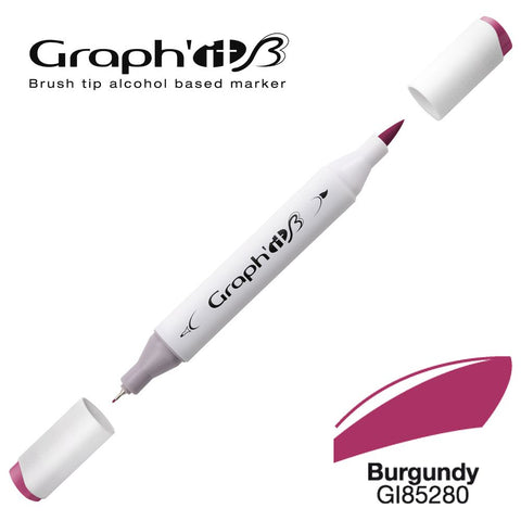 GRAPH'IT Marqueur Brush 5280 - Burgundy