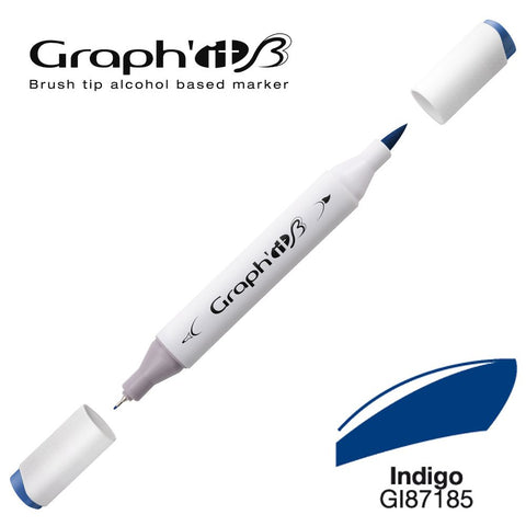 MARQUEUR BRUSH ALCOOL GRAPH'IT- INDIGO 7185