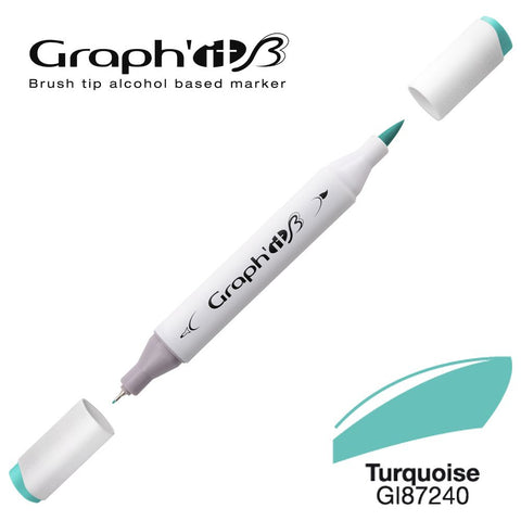 GRAPH'IT Marqueur Brush 7240 - Turquoise
