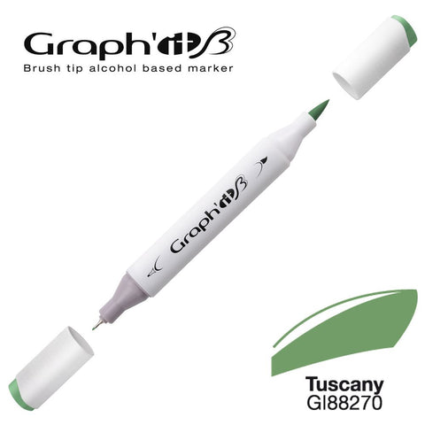 MARQUEUR BRUSH GRAPH'IT ALCOOL- TUSCANY 8270