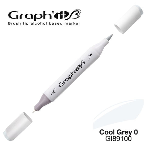 MARQUEUR BRUSH GRAPH'IT ALCOOL- COOL GREY 9100