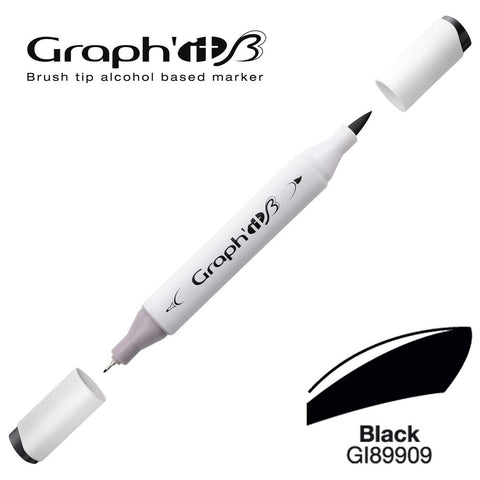 MARQUEUR BRUSH GRAPH'IT ALCOOL- BLACK 9909