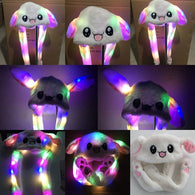 Light Up Bunny Hat With Moving Ears