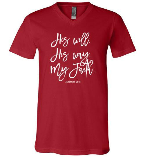 His Will His Way V-Neck Tee