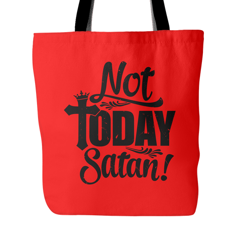 Note Today Satan Tote Bag