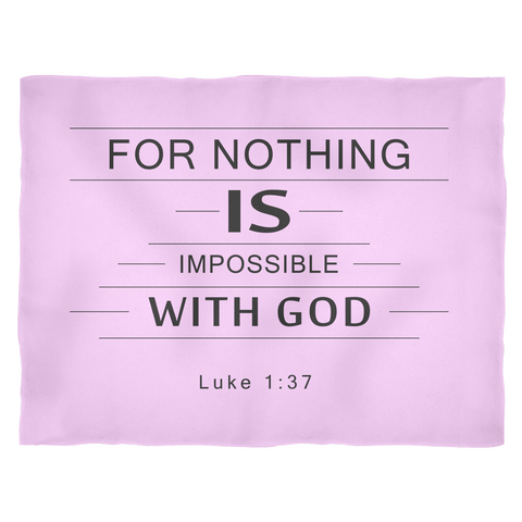 Nothing Is Impossible Fleece Blanket Light Pink