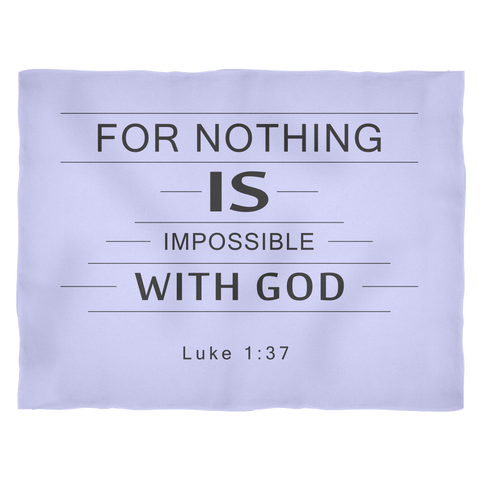 Nothing Is Impossible Fleece Blanket Light Blue