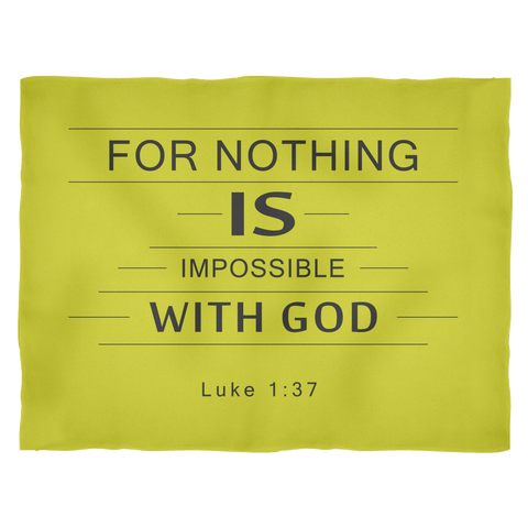 Nothing Is Impossible Fleece Blanket Gold