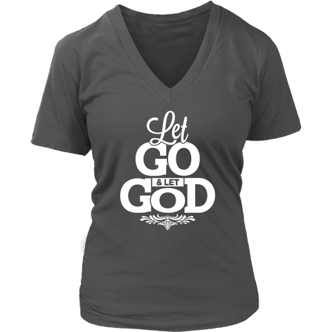 Let Go Let God V-Neck Tee