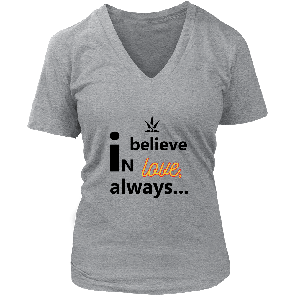 Believe in Love V-Neck Tee