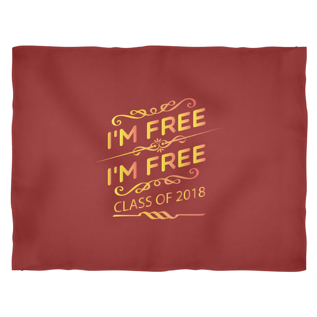 Class of 2018 Fleece Blanket Burgandy