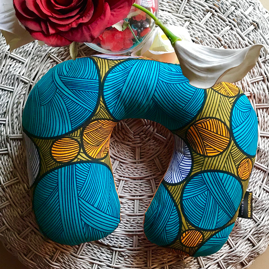 PillowTalk9ja Ankara Travel Neck pillow
