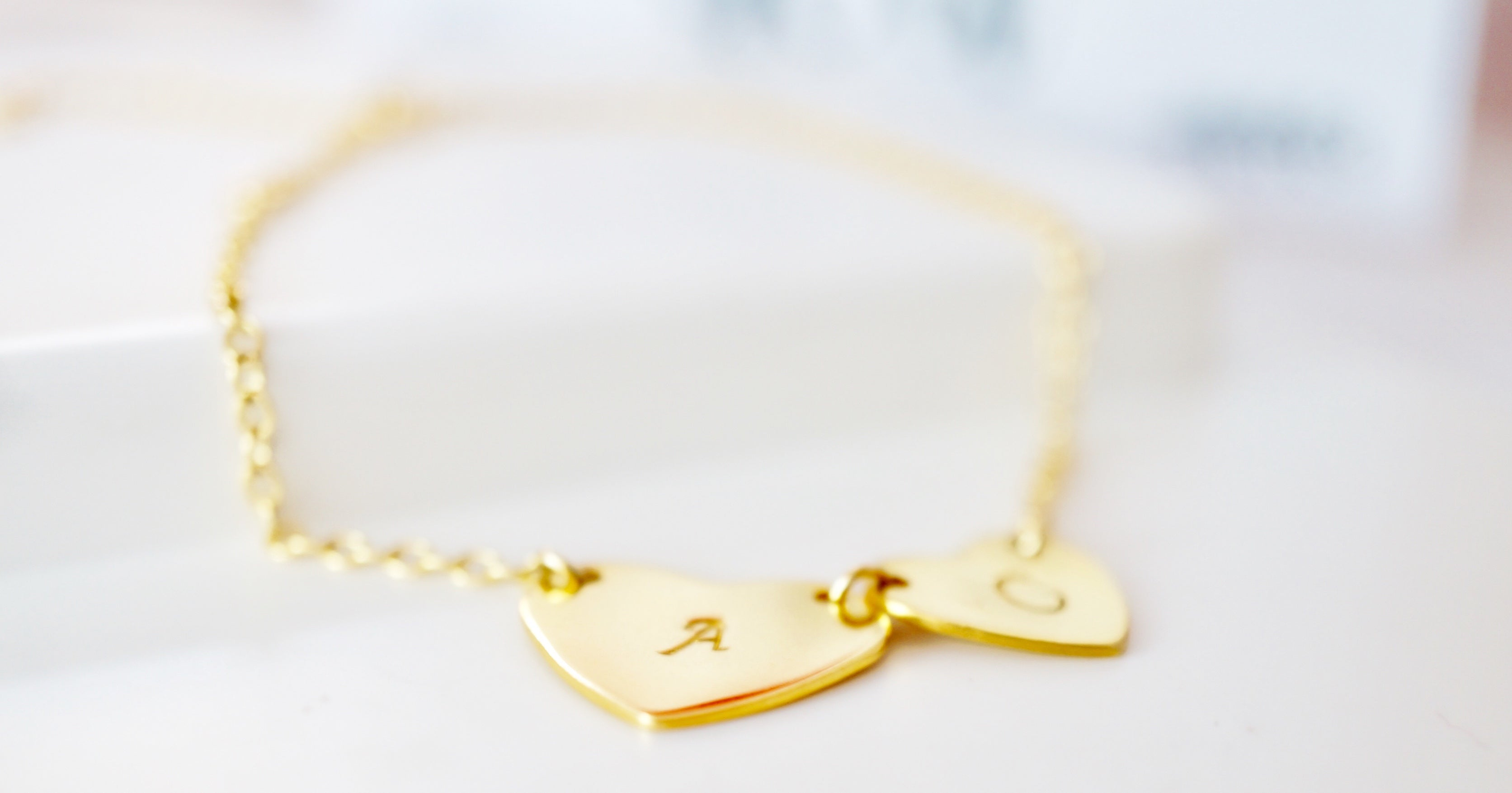 zivanora heartbeat customized gold bracelet