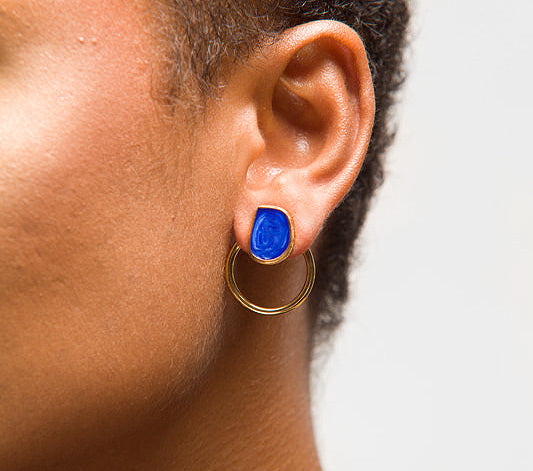 Fearless Mini Hoop Jacket Earrings