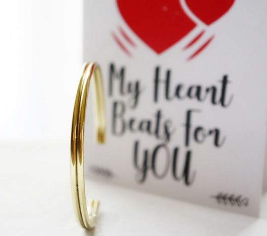 Men's Cuff Bracelet With Greeting Card by Not Just Pulp